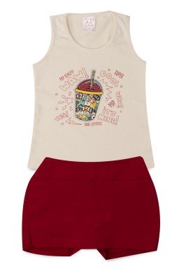 Conjunto Infantil Menina Cotton Milk Shake