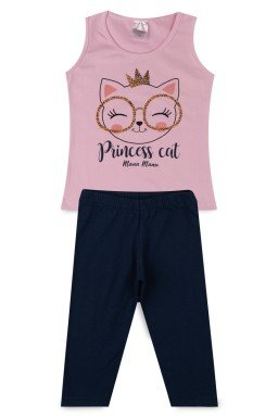 Conjunto Infantil Menina Cotton Princess Cat