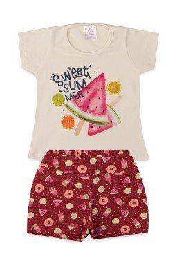Conjunto Infantil Menina Cotton Sweet Summer