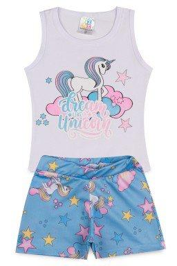 Conjunto Infantil Menina Cotton Crepe Unicorn