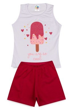 Conjunto Infantil Menina Cotton Picolé