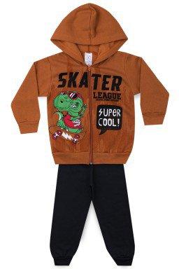 Conjunto Infantil Menino Moletom Skater League