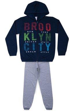 Conjunto Juvenil Masculino Moletom Brooklyn