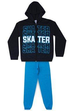 Conjunto Juvenil Masculino Moletom Skater