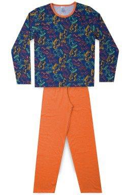 Pijama Juvenil Masculino Meia Malha Skate