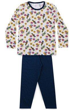 Pijama Infantil Menina Meia Malha Passarinho