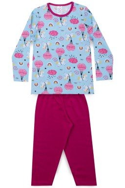 Pijama Infantil Menina Meia Malha Balão