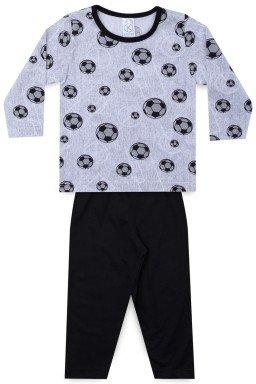 Pijama Infantil Menino Meia Malha Futebol
