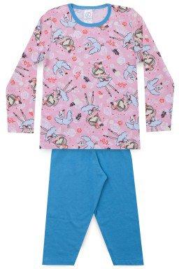 Pijama Infantil Menina Meia Malha Bailarina