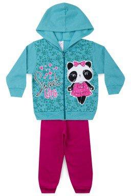 Conjunto Infantil Menina Moletom Panda