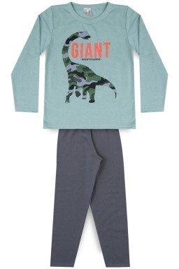Conjunto Infantil Menino Moletom Dinossauro