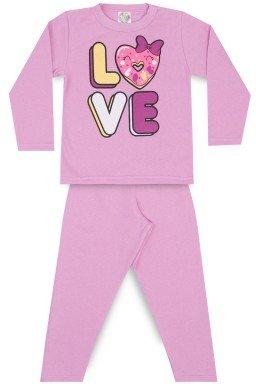 Conjunto Infantil Menina Moletom Love