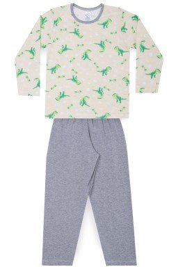 Pijama Infantil Menino Meia Malha Dinossauro