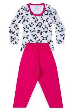 Pijama Infantil Menina Meia Malha Panda