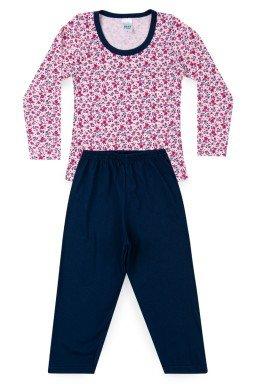 Pijama Infantil Menina Meia Malha Florzinha