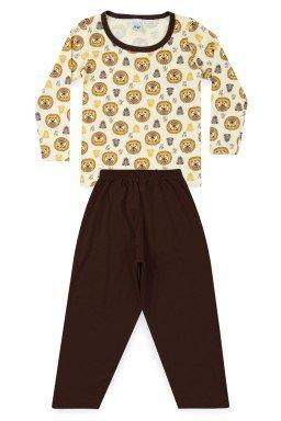Pijama Infantil Menino Meia Malha Leãozinho