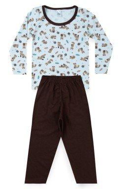 Pijama Infantil Menino Meia Malha Raposa