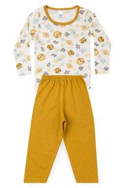 Pijama Infantil Menino Meia Malha Animaizinhos