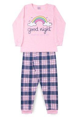 Pijama Infantil Menina Meia Malha Arco Íris
