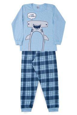 Pijama Infantil Menino Meia Malha Tubarão